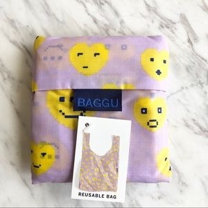 NWT Baggu Heart Emoji Reusable Bag RARE 💜